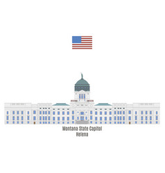 Montana state capitol vector