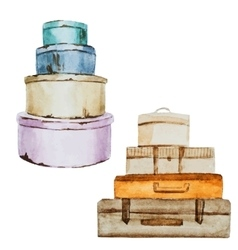 Nice watercolor baggage vector image