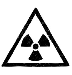 Nuclear radiation symbol hand drawing doodle vector