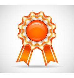 Orange medal vector image