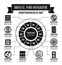 oriental food infographic concept simple style vector image