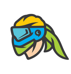 paintball mask sign vector image