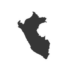 peru map silhouette vector image