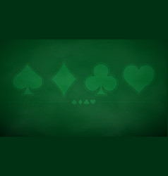 Poker table background in green color vector