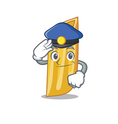 Police penne pasta character cartoon vector