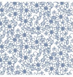 Prairie florals blue light colors seamless vector