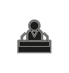 president speech flat icon - public speaker vector image