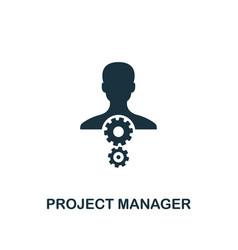 project manager icon creative element design from vector image