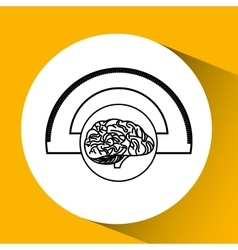 Protractor brain school knowledge vector