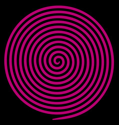 purple round abstract vortex hypnotic spiral vector image