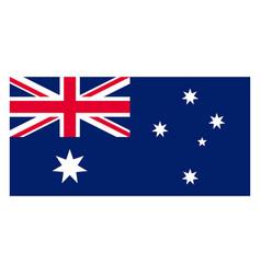 Rectangular australian national flag government vector