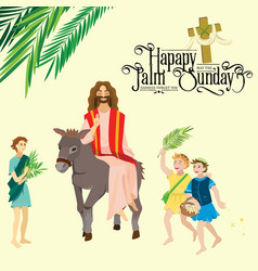 Religion holiday palm sunday before easter vector