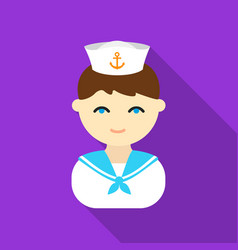 sailor flat icon for web and mobile vector image