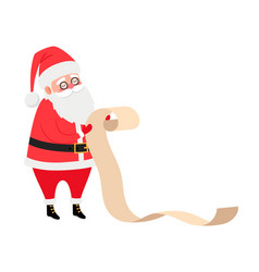 santa reading present list vector image