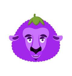 sheep eggplant purple farm animal vector image