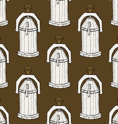 Sketch vintage geyser coffee maker vector