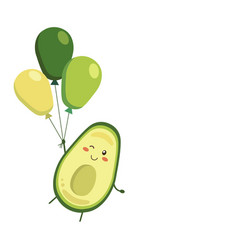 Smiling winking avocado vector