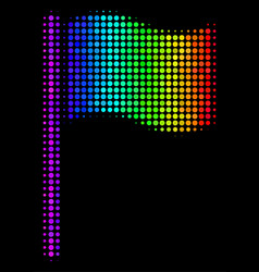 Spectrum dotted waving flag icon vector