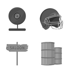 Sport ecology travel and other monochrome icon vector