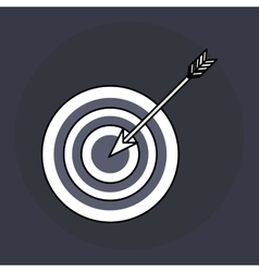 Target design blue background Colorful vector