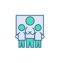 teamwork icon scheme and diagram symbol flat vector image