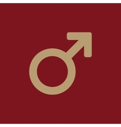 The male icon Man symbol Flat vector