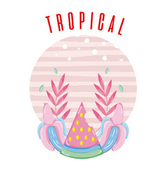 Tropical card concept design vector