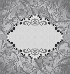 Vintage greeting card seamless floral texture vector