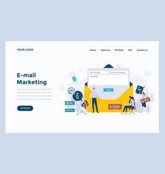 web design flat modern concept - e-mail marketing vector image