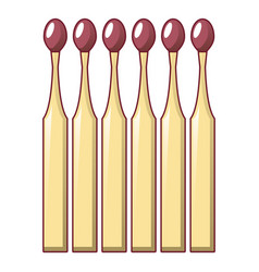 wood matches sticks icon cartoon style vector image