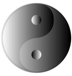 Yin and Yang shades of grey vector image