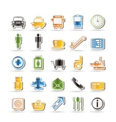 airport and transportation vector image vector image