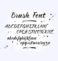 brush lettering alphabet vector image vector image