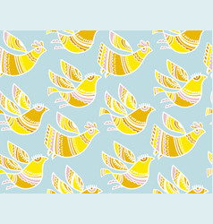 decorative birds summer color seamless pattern vector image vector image