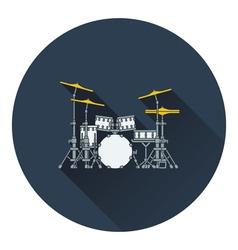 Drum set icon vector image vector image