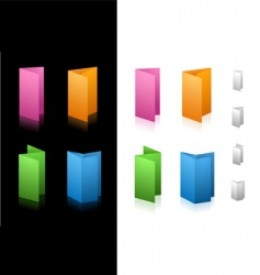 folding icons vector image vector image
