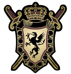 griffin classic emblem badge shield vector image