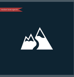 mountain snow icon simple vector image