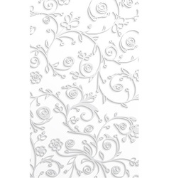 White floral background vector image vector image
