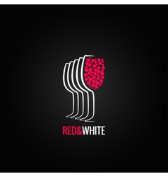wine glass red and white backgraund vector image vector image