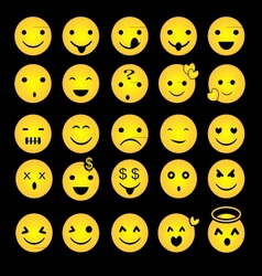 Yellow Emoticon vector image vector image