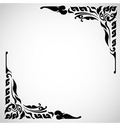 Artistic conner of thai pattern vector image