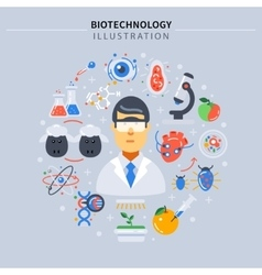 Biotechnology Colored Composition vector image vector image