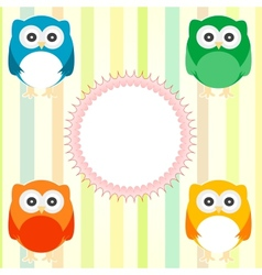 cute owl card vector image vector image