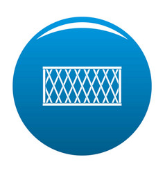 Fence icon blue vector