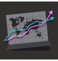 Map infographic whith arrow vector image
