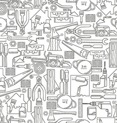 Seamless pattern construction tools vector image