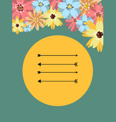 Template for postcard invitation cover vector