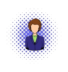 Avatar comics girl icon vector image