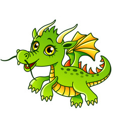 cartoon dragon isolated vector image vector image